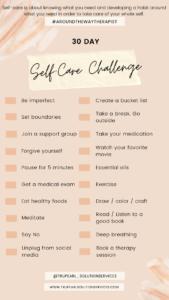 30 Day self care